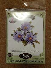 Aster Flower Sizzix Susan's Garden Thinlits Dies x8  659255