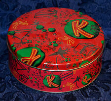 "Vintage Kahlua Collectible TIN with Red ""K"" & Other Gold Plated Sings on Top"