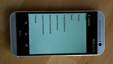 HTC One m8 - 32gb in argento con pellicola/senza SIM-lock/gr. display/Smartphone