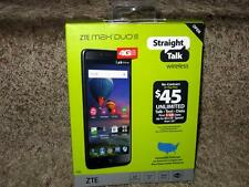"Straight Talk ZTE MAX DUO 4G LTE GSM Prepaid 16GB Cell Phone w/ BIG 6"" Screen"