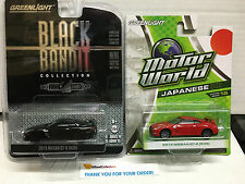 Greenlight * Nissan SKYLINE GT-R (R35) * LOT 2 Cars * Black Bandit Motor World