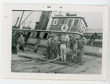 Canadian Dredge & Dock tugboat A.M Macaulay sinking Vintage photo Ontario #3