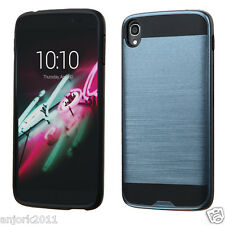 Ink Blue Brushed Textured Ultra Slim Fit Case Cover for Alcatel Idol 3 Cricket