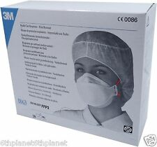 Box - 20 3M 1863 FFP3 Fluid resistant Respirator dust mask EN149:2001 Exp2014/05