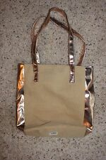 Ulta Gold & Tan Tote Handbag Shoulder Bag
