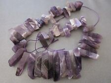 Dogtooth Amethyst Top Drilled Sticks Beads 48pcs