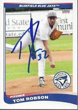 Tom Robson 2013 Bluefield Blue Jays Signed Card