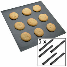 5 x UNIVERSAL Teflon Coated Non Stick Extra Large Baking Oven Sheet Mat Liner