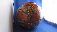 bel ancien grand vase boule poterie vernissée savoyarde TRIPP annecy savoie