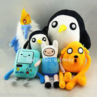 6pcs Adventure Time with Finn and Jake Beemo Gunter King stuffed plush dolls toy