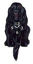 WALL CLOCKS - COCKER SPANIEL WAGGING TAIL WALL CLOCK - BLACK - DOG CLOCK