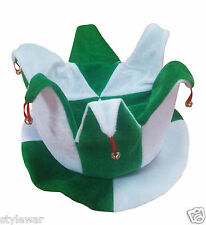 Adults Men Ladies Unisex St. Patrick's Green White Jester Hat St. Patrick's Hats