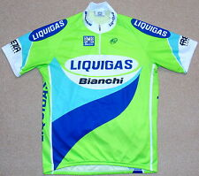 "PERFECT CONDITION LIQUIGAS BIANCHI TEAM JERSEY. SANTINI XXXL (SIZE 7) 46"" CHEST"