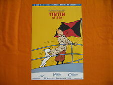 Tim y Tintín herge póster Tintin exposición Kuifje affiche 2004 expo affisch