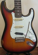 Used Vintage Icon Series V6 Electric Guitar in Distressed Sunset Sunburst