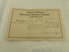 1914 Certificate of Dentistry