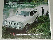 1973 International Harvester SCOUT advertisement, IH Scout, should be Scout II