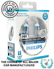 PHILIPS H4 WHITE VISION 4500K Xenon Crystal WhiteVision +2 W5W | 100% GENUINE!