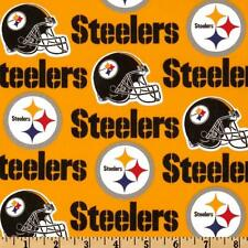 "100% Cotton Fabric Pittsburgh Steelers 58"" Wide NFL Licensed Sold BTY 6336"