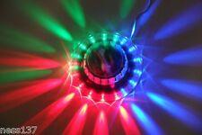 Lampe Laser 49 Led Soucoupe Rotative Lumineuse Musique Soirée Fête Noel Mariage