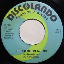 LOS MELODICOS: RECUERDOS NO. 30 ~ DISCOLANDO latin SALSA 45 super HEAR