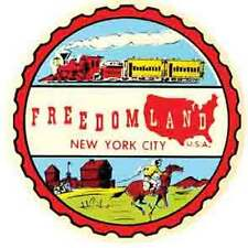 Freedomland   New York City   1950's  Vintage-Looking   Travel Decal/Sticker