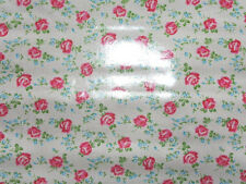 Sugar Hill Tanya Whelan Roses on white   Laminated Cotton BT yard 56 inches wide