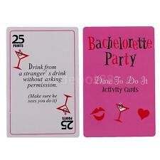 52pcs Hen Bachelorette Party Favor Naughty Games Dare Cards
