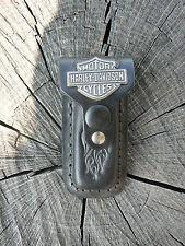 NUOVO Harley Davidson fodero custodia per coltello in cuoio nero