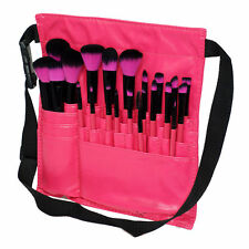 Professional PU Leather Makeup Strap Belt Holder with 23pcs Makeup Brush Pink