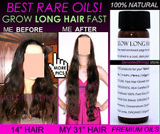 BEST NATURAL GROW LONG HAIR FAST HAIR GROWTH OIL HAIR GROWTH SERUM DOUBLE SPEED