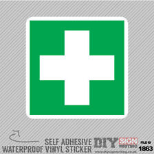 4X First Aid Sign Self Adhesive Vinyl Sticker Decal Window Car Van Bike