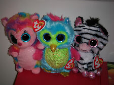 "Ty Beanie Boos Set of 3 ~ 6"" HOLLY, OPAL & IZZY ~ Justice Exclusives ~ MWMT'S"