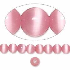 Cat's Eye 6mm Light Pink 50 Beads