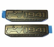 JEEP WRANGLER GRAND CHEROKEE WILLYS 75TH ANNIVERSARY WILLYS 1941 EMBLEMS OEM