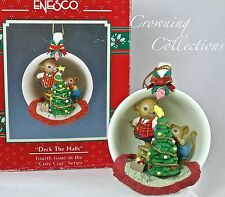 Enesco Deck The Halls Cozy Cup Mice Treasury of Christmas Ornament Tree Teacup 4