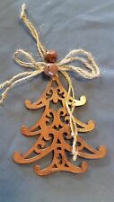 ORNAMENT metal rustic BRONZE CHRISTMAS TREE *** MORE ORNAMENTS IN OUR STORE