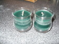 Partylite  SET OF 2 PINEBERRY Mini BARREL Jar Candles  VERY RARE