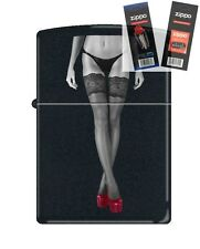 Zippo Red Shoe Girl Number 11 Lighter with *FLINT & WICK GIFT SET*