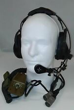 US Military H-161 Roanwell Headset Microphone w/ Chest Switch