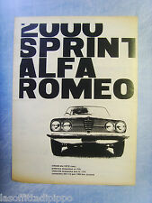 LAUTOM960-PUBBLICITA'/ADVERTISING-1960- ALFA ROMEO 2000 SPRINT