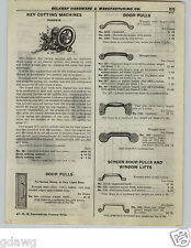 1922 PAPER AD Russwin Key Cutting Machine Diagram Hand Crank Power or Motor