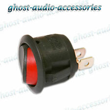 12v Round Black On / Off Rocker Switch 10amp flick swicthes 20mm