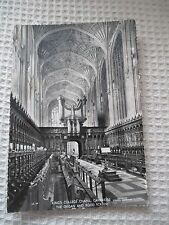 VINTAGE RP POSTCARD, KING'S COLLEGE CHAPEL, CAMBRIDGE THE ORGAN AND ROOD SCREE .