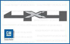 set of 2: 2016 GMC Sierra 4x4 Decals bed stickers - FMT metallic strip chrome