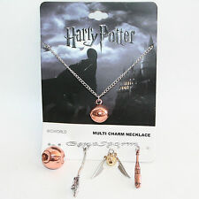 Harry Potter Quidditch Interchangeable 5 Multi Charm Pendant Necklace Set NEW