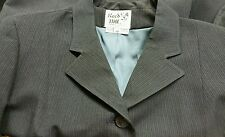 Reed Hill Double Vent Hunt Coat Navy Pin Poly Size 20  - Made in USA