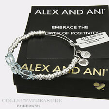 Authentic Alex and Ani Assorted Swarovski Crystal & Metal Beaded Bangle L17