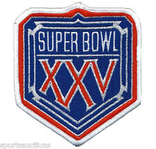 SUPER BOWL 25 ~ NY GIANTS / BILLS OFFICIAL SB XXV Willabee & Ward NFL PATCH ONLY