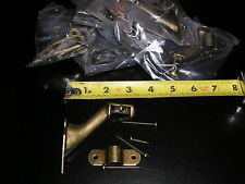 10 ANTIQUE BRASS 3 INCH PROJECTION HAND RAIL BRACKETS